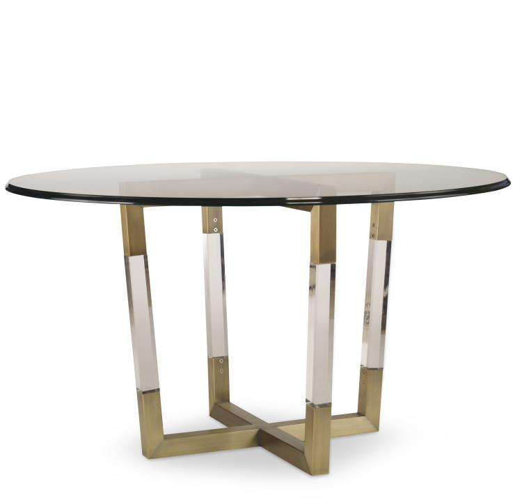 78d 803b w metal acrylic dining table base for wood tops for Dining at at t center