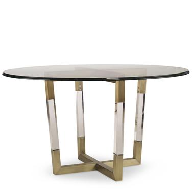 78D 803B W MetalAcrylic Dining Table Base For Wood Tops