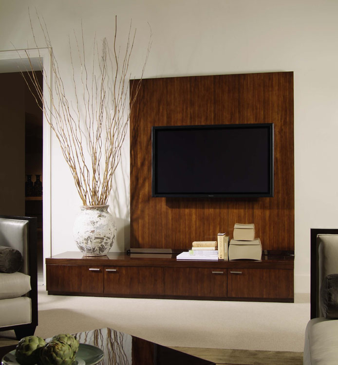 Wood Panel Wall Behind Tv: Media Unit