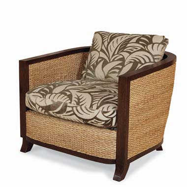 Elegance (LTD5126-6) WATER HYACINTH CHAIR :  interior design centuryfurniture banana leaf cushions