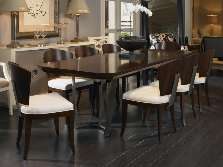 41h 303 Guardian Dining Table With Metal Base