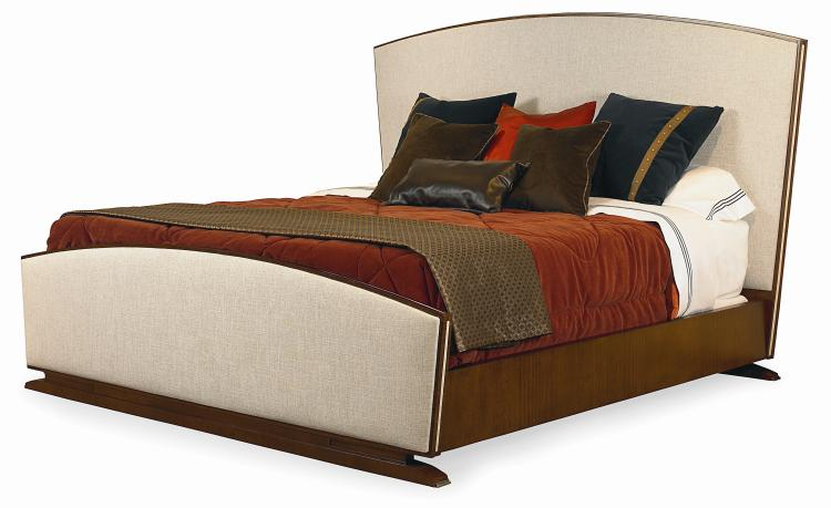 859 146 saint germain upholstered bed king size 6 6 for Albany st germain sectional sofa chaise