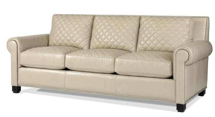 Plr 5702 Frost Leather Quilted Sofa