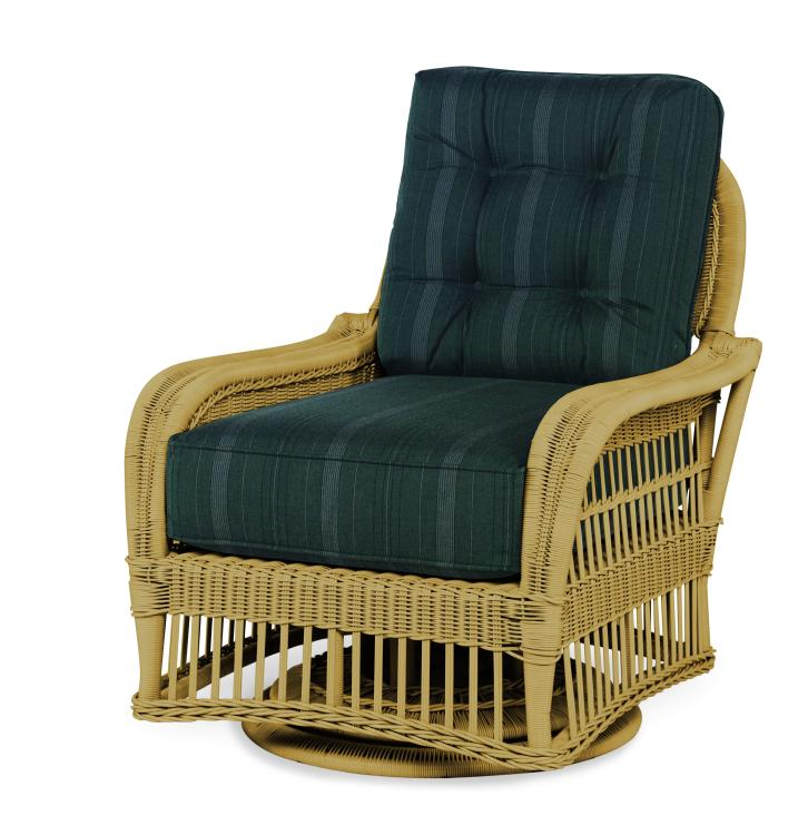 Astonishing Ae D40 13 Nt Mainland Wicker Swivel Lounge Chair Gmtry Best Dining Table And Chair Ideas Images Gmtryco