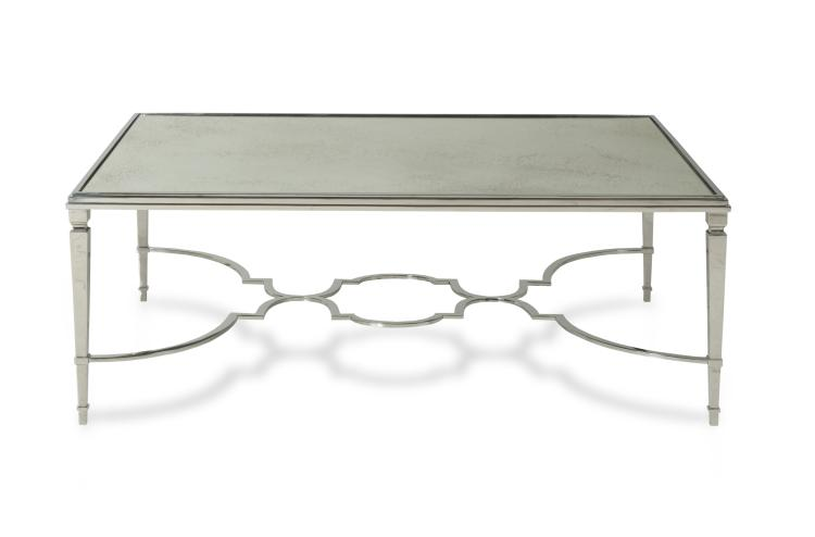 I3b 601 88 Aurora Cocktail Table With Antique Mirror Top